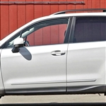 Subaru Forester Chrome Lower Door Moldings, 2009, 2010, 2011, 2012, 2013, 2014, 2015, 2016, 2017, 2018
