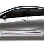 Kia Forte Sedan Chrome Lower Door Moldings, 2014, 2015, 2016, 2017, 2018, 2019, 2020