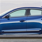 Acura ILX Chrome Lower Door Moldings, 2013, 2014, 2015, 2016, 2017, 2018, 2019, 2020