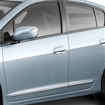 Honda Insight Chrome Lower Door Moldings, 2010, 2011, 2012, 2013, 2014