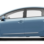 Toyota Prius V Chrome Lower Door Moldings, 2012, 2013, 2014, 2015, 2016, 2017, 2018