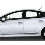 Toyota Prius Chrome Lower Door Moldings, 2010, 2011, 2012, 2013, 2014, 2015