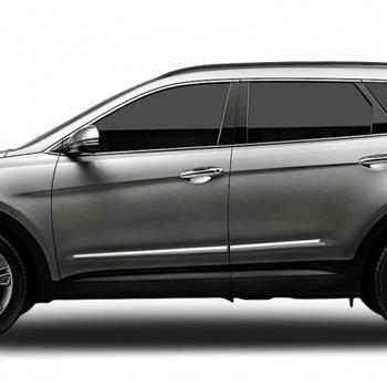Hyundai Santa Fe Chrome Lower Door Moldings 2013 2014