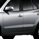Hyundai Santa Fe Chrome Lower Door Moldings, 2007, 2008, 2009, 2010, 2011, 2012