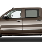 Chevrolet Silverado Chrome Lower Door Molding Accents, 2014, 2015, 2016, 2017, 2018