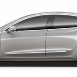 Tesla Model 3 Chrome Lower Door Moldings, 2017, 2018, 2019