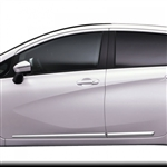 Nissan Versa Note Chrome Lower Door Moldings, 2014, 2015, 2016, 2017, 2018, 2019