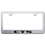 Cadillac CTS Laser Etched Chrome License Plate Frame