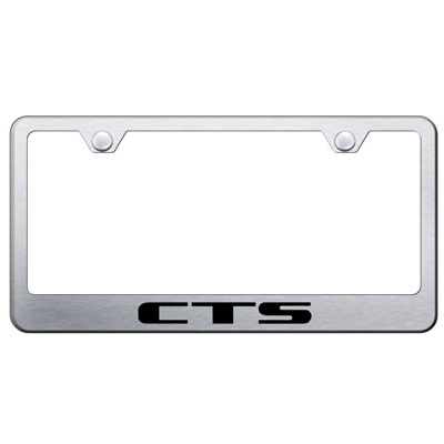 Cadillac CTS Laser Etched Chrome License Plate Frame | ShopSAR.com