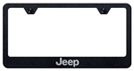Jeep Laser Etched Black License Plate Frame