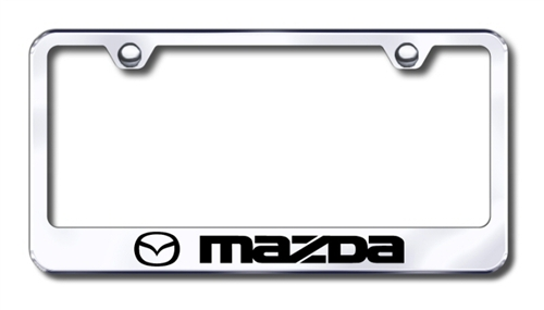 mazda chrome license plate frame