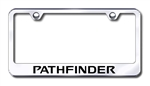 Nissan Pathfinder Chrome License Plate Frame