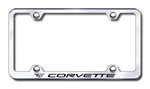 Corvette Premium Chrome License Plate Frame