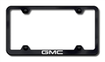 GMC Laser Etched Black License Plate Frame