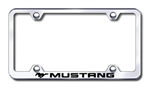Ford Mustang Logo Premium Chrome License Plate Frame