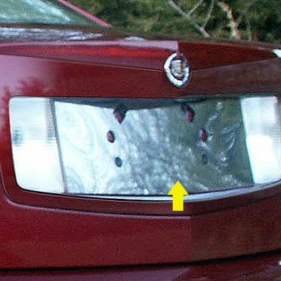 Cadillac Cts Chrome License Plate Bezel Trim 2003 2004