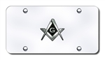 Chrome License Plate - Masons
