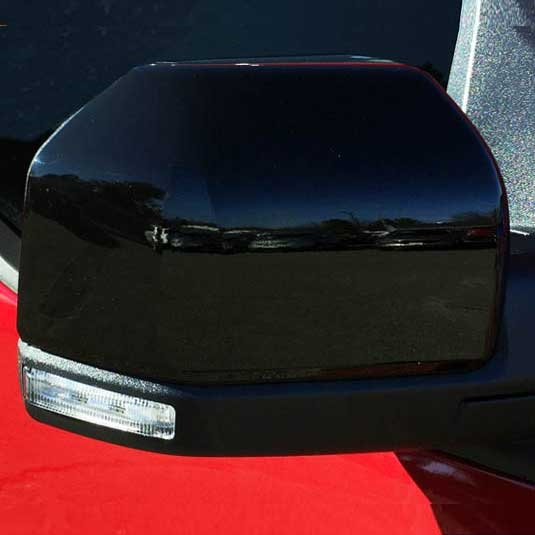 Overun Triple Chrome Power Mirror Top Half Covers Overlay Designed for 2004-2008 F-150