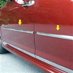 Mazda 3 Hatchback Chrome Mid Door Molding Insert Set, 4pc  2004, 2005, 2006, 2007, 2008, 2009
