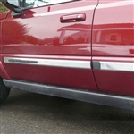 Jeep Commander Chrome Side Molding Trim, 4pc  2006 - 2011
