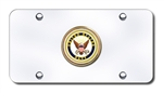 Chrome License Plate - US Navy