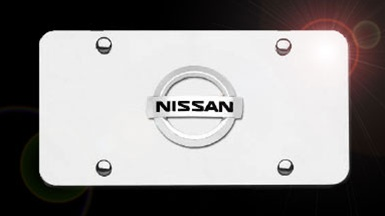 Nissan Chrome License Plate With Chrome Logo Shopsar Com