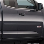 GMC Canyon Painted Body Side Moldings (mid door), 2015, 2016, 2017, 2018, 2019