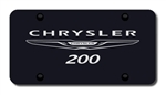 Chrysler 200 Black License Plate