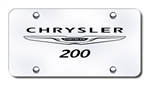 Chrysler 200 Chrome License Plate