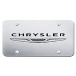 Chrysler Logo Chrome License Plate