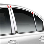 Subaru Legacy Chrome Pillar Post Trim, 2010, 2011, 2012, 2013, 2014