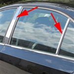 Volkswagen Jetta Chrome Pillar Post Trim, 2011, 2012, 2013, 2014, 2015, 2016, 2017