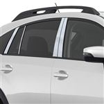 Subaru Crosstrek Chrome Pillar Post Trim, 2013, 2014, 2015, 2016, 2017, 2018, 2019, 2020