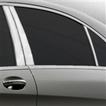 Mercedes S-Class Chrome Pillar Post Trim, 2014, 2015, 2016, 2017, 2018, 2019, 2020