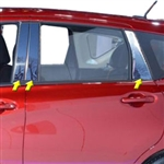 Nissan Versa Note Chrome Pillar Post Trim, 2014, 2015, 2016, 2017, 2018, 2019