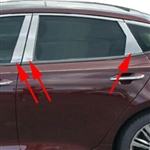Kia Optima Chrome Pillar Post Trim, 2016, 2017, 2018, 2019, 2020