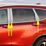 Honda CR-V Chrome Pillar Post Trim, 2017, 2018, 2019, 2020