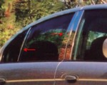 Jaguar S-Type Chrome Pillar Post Trim, 6pc  2000 - 2002
