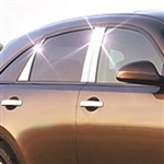 Infiniti FX35 Chrome Pillar Post Trim, 2004, 2005, 2006, 2007, 2008