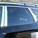 Nissan Murano Chrome Pillar Post Trim, 6 piece Set, 2003, 2004, 2005, 2006, 2007