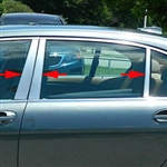 BMW 7-Series Chrome Pillar Post Trim, 2002, 2003, 2004, 2005, 2006, 2007, 2008