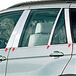 BMW X5 Chrome Chrome Pillar Post Trim, 2000, 2001, 2002, 2003, 2004, 2005, 2006