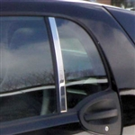 Smart Fortwo Coupe Chrome Pillar Post Trim, 2007, 2008, 2009, 2010, 2011