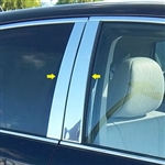 Toyota Venza Chrome Pillar Post Trim, 2009, 2010, 2011, 2012, 2013, 2014, 2015
