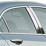 Acura TSX Chrome Pillar Post Trim, 2009, 2010, 2011, 2012, 2013, 2014