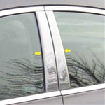 Acura TL Chrome Pillar Post Trim, 2009, 2010, 2011, 2012, 2013, 2014