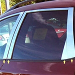 Nissan Murano Chrome Pillar Post Trim, 8 piece Set, 2009, 2010, 2011, 2012, 2013, 2014