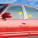 Buick Park Avenue Chrome Pillar Post Trim, 4pc  1991 - 1996