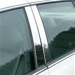 Cadillac Deville, DTS, DHS Chrome Pillar Post Trim, 4pc. Set, 2000, 2001, 2002, 2003, 2004, 2005, 2006, 2007, 2008, 2009, 2010, 2011