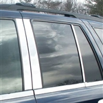 Chevrolet Trailblazer Stainless Steel Pillar Post Trim 2002, 2003, 2004, 2005, 2006, 2007